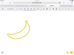 icon drawing of a banana